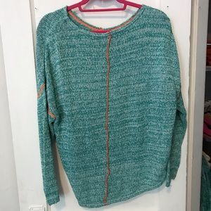 Relais Knitware Sweaters - Relais Sweater Blue And Orange Size Small